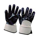 Cotton glove w/blue nitrile 9