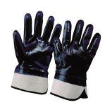 Cotton glove w/blue nitrile 10
