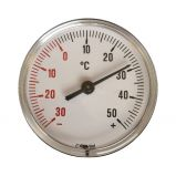 Termometer Ø63 10cm 0-120°